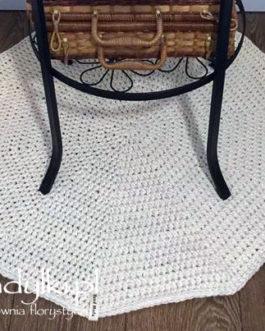 Dywan okrągły ecru